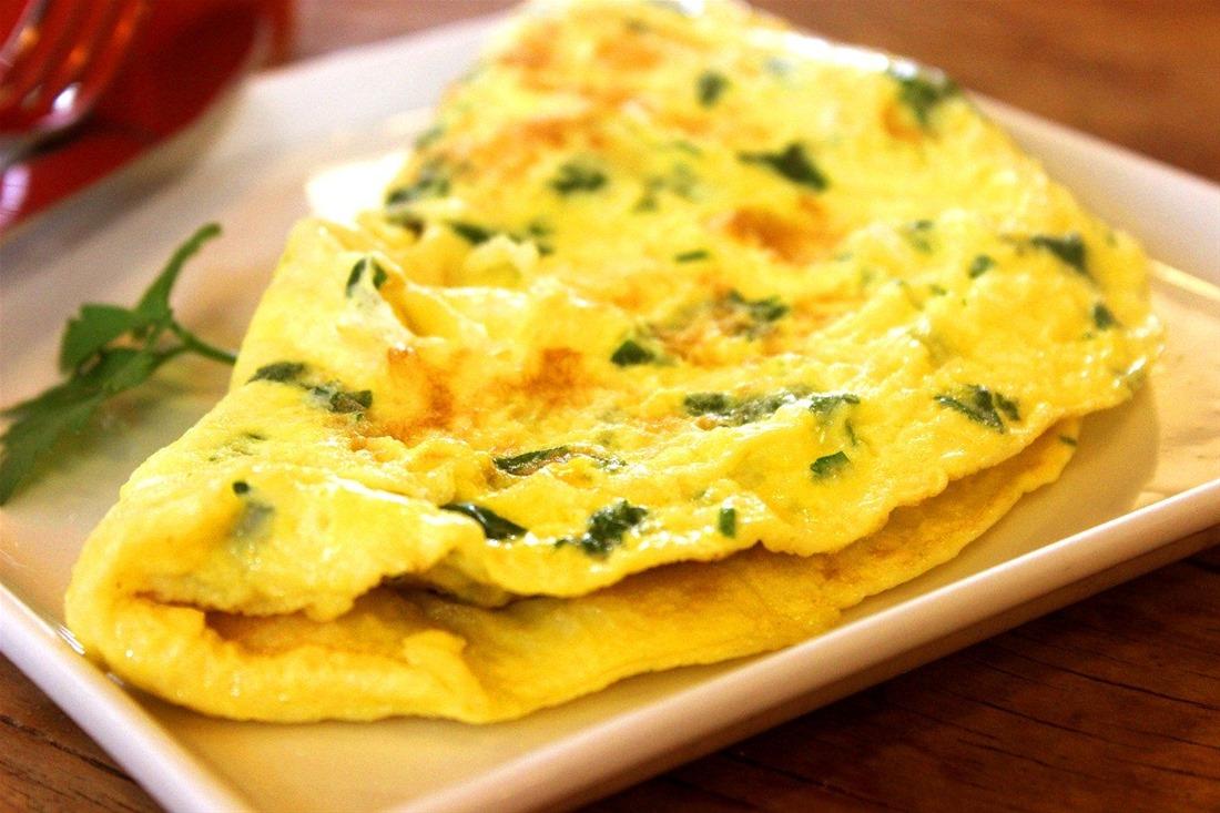 ομελέτα στο φούρνο με φρέσκα λαχανικά
