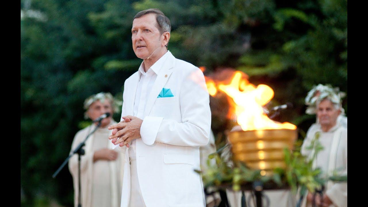 Πάρις Κατσίβελος - Τελετή Αφής της Φλόγας του Πνεύματος και των Τεχνών