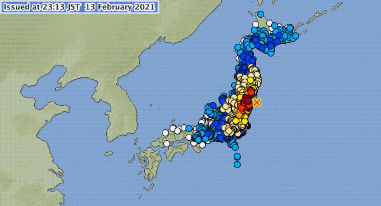 Ιαπωνία: Δέος προκαλούν τα πλάνα από τον σεισμό 7,3 Ρίχτερ στην Φουκουσίμα-video