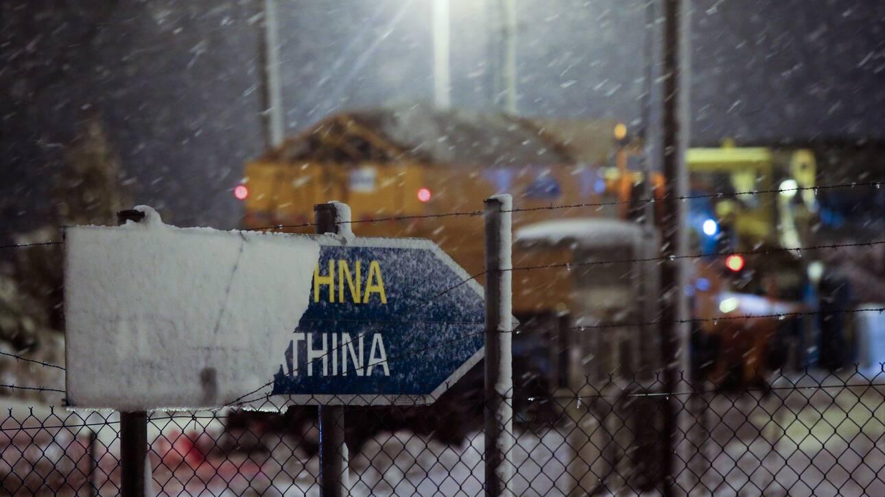 """Κακοκαιρία """"Μήδεια"""": Χιονίζει στην Αττική-Δείτε που χρειάζονται αλυσίδες"""