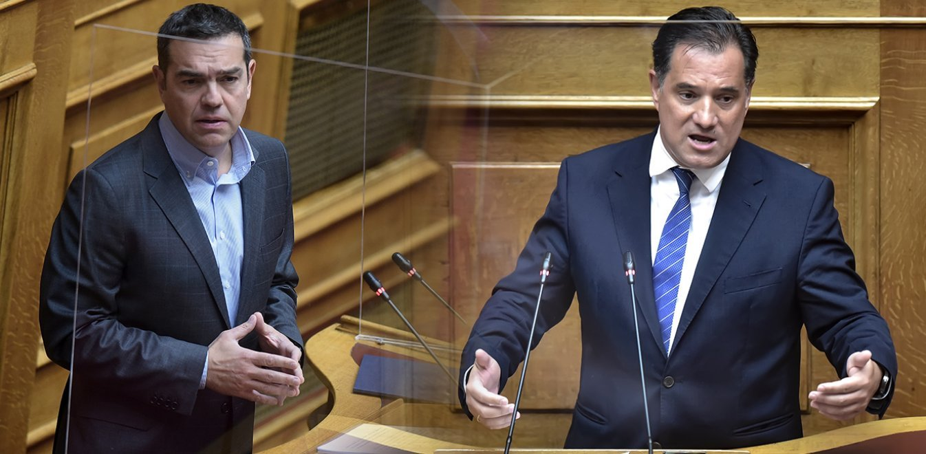 «Ήρθε ο νονός; Άξιος, πάντα άξιος»! Χαμός στη Βουλή με Τσίπρα και Γεωργιάδη (video)