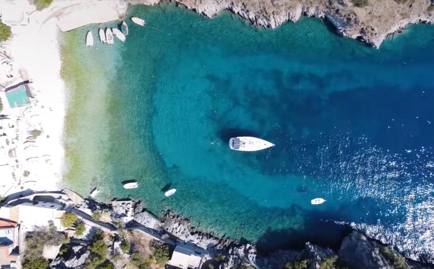 Αλύπα: Η μυστική παραλία στο χωριό Νύφι της Μάνης-video