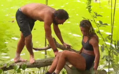 Η επική τούμπα του Σάκη και της Μαριαλένας μέσα στο ποτάμι (video)