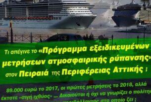 Λιμάνι Πειραιά: Τι συμβαίνει με το πρόγραμμα εξειδικευμένων μετρήσεων της ατμοσφαιρικής ρύπανσης