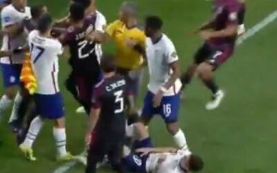 Viral Βίντεο: Σε αγώνα πυγμαχίας μετατράπηκε ο αγώνας ΗΠΑ-Μεξικό στον τελικό του Nations League