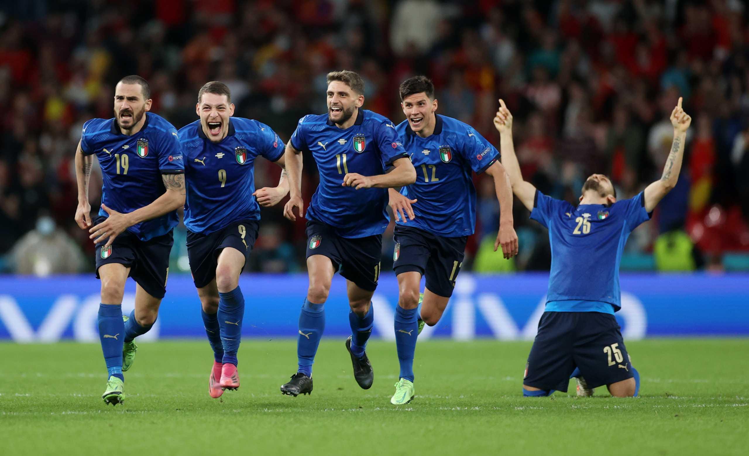 EURO 2020: Η Ιταλία κέρδισε στα πέναλτι την Ισπανία με 4-2 [βιντεο]