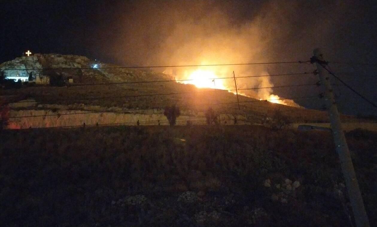 Νέα Φωτιά στην περιοχή του Σχιστού στο Πέραμα