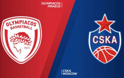 Ολυμπιακός - ΤΣΣΚΑ Μόσχας live streaming 12/09: Ζωντανή μετάδοση