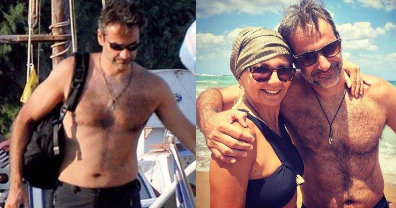 Κρήτη: Φθινοπωρινό μπάνιο απόλαυσε ο Κυριάκος Μητσοτάκης με τη σύζυγό του - ΦΩΤΟ