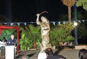 Πάρκο Δηλαβέρη: Έγιναν τα αποκαλυπτήρια του αγάλματος της «Ηρωίδας Μανιάτισσας»