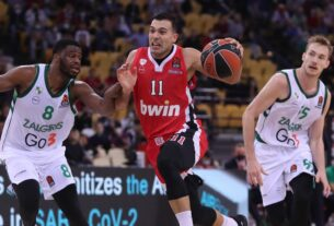 """Ολυμπιακός–Ζάλγκιρις 83-68: Την """"εξαφάνισε"""" στο δεύτερο ημίχρονο (highlights)"""